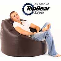 Faux Leather Large Bean Bag Chair