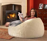 Luxury Faux Fur Beanbag