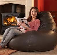 Giant Contemporary Leather Beanbags