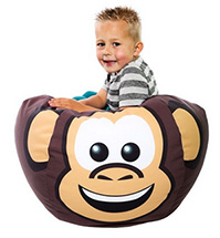 Monkey Shaped Bean Bag For Kids