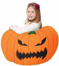 Scary Pumpkin Bean Bag For Kids