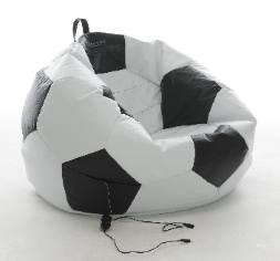 Football Shaped Gaming Bean Bag With  Built In Speakers